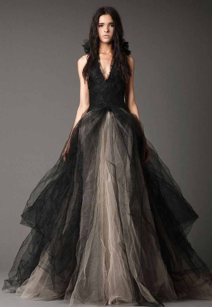 Vip girl dresses august 2013 it may sound like something you would see in a horror flick but as a recent collection from vera wang has shown black wedding gowns can look really junglespirit Images