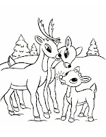 Free Rudolph Coloring Sheet Printable