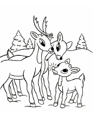 Go back gt gallery for gt baby rudolph coloring page