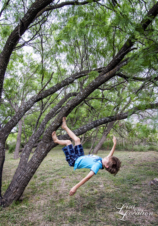 infrared, Canon 50D, levitation, boy climbing tree, Lisa On Location Photography, New Braunfels, San Antonio, San Marcos, Austin