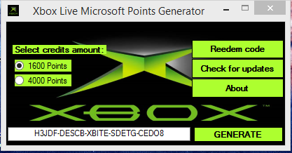 Microsoft Points Generator