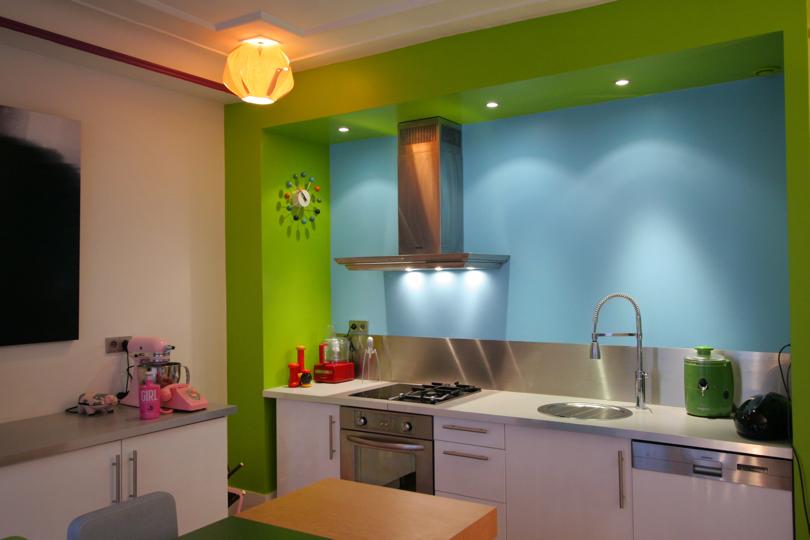 Abcr a studio pourquoi choisir du bleu pour mes murs - Cuisine peinte en vert ...