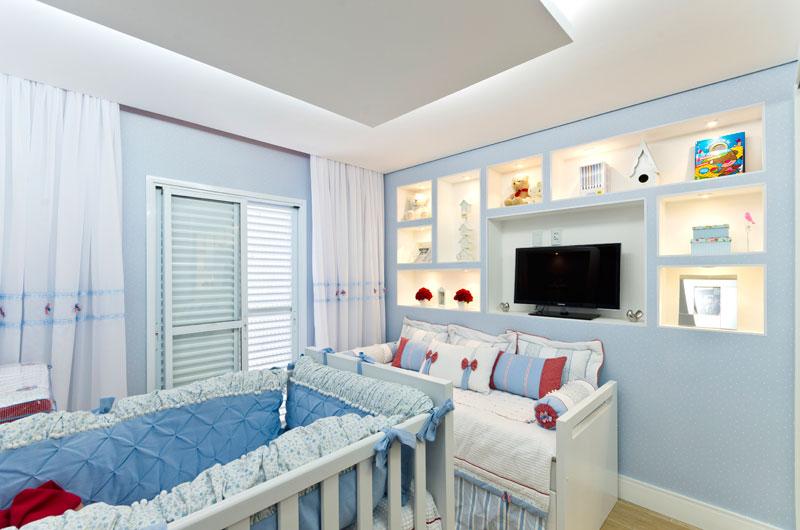 Decoração de quarto para bebê menino azul
