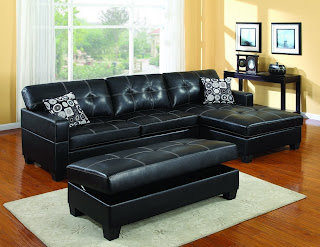Microfiber and leather sectional sleeper sofa with chaise for Black microfiber sectional sofa with chaise