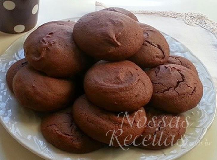 Receita de Biscoito preparado com chocolate