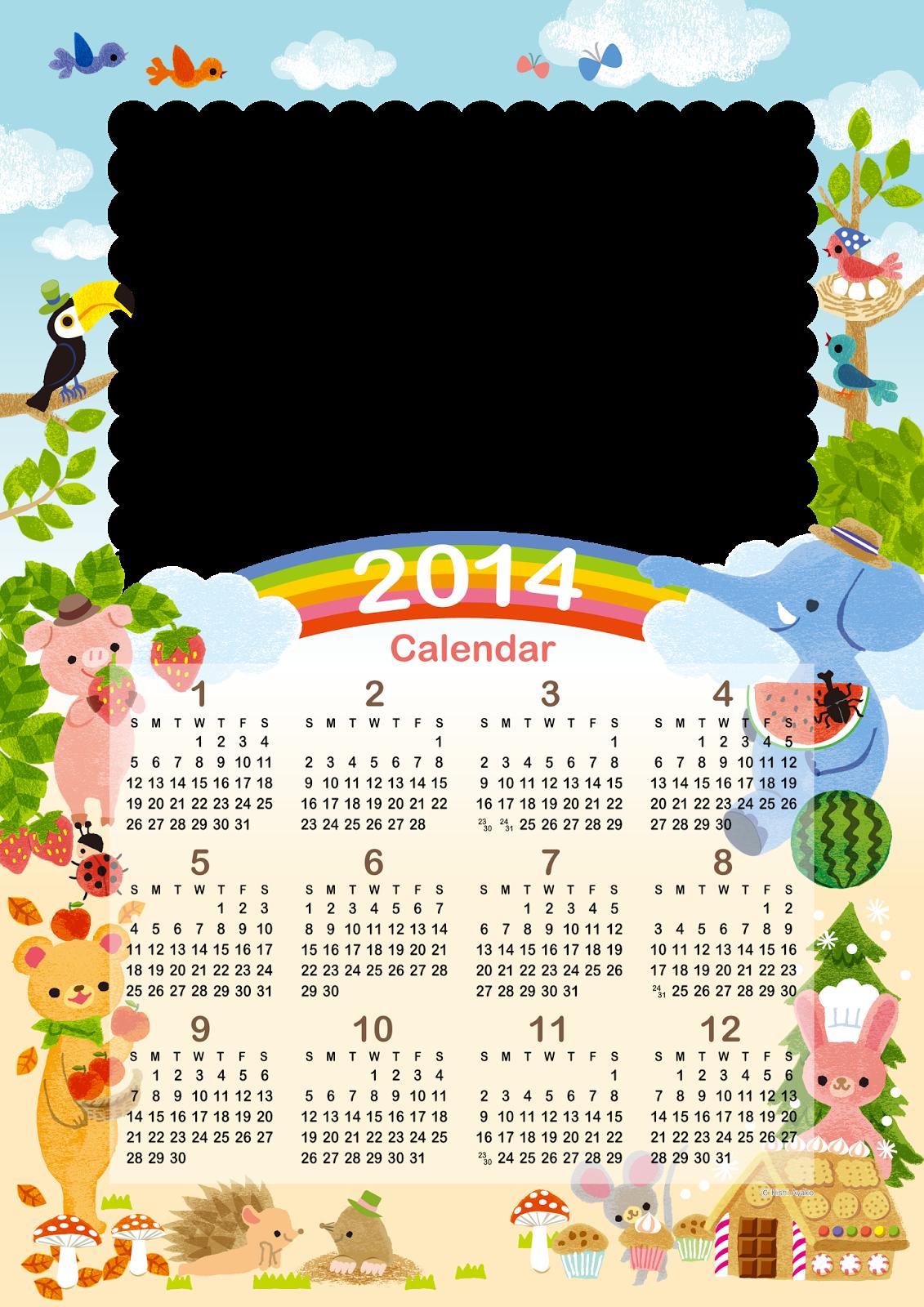 Bases Calendário 2014 para imprimir grátis