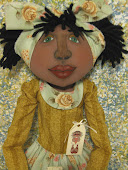 Yellow Cottage Rose Black Doll