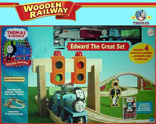 Island of Sodor toy model Spencer and Edward the tank engine Thomas wooden railway train layout  sc 1 st  Thomas the tank engine Friends & Edward The Great Set Thomas Wooden Railway Train Layout | Train ...