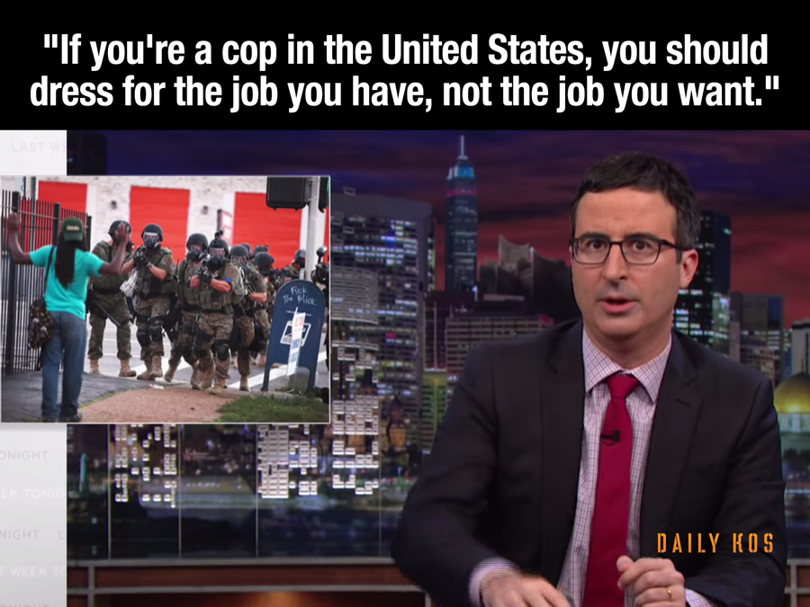 ... OUR POLICE DEPARTMENTS ... JOHN OLIVER'S BRILLIANT RANT ON THE TOPIC