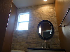 Quartzite Accent Wall and New Powder Room Vanity