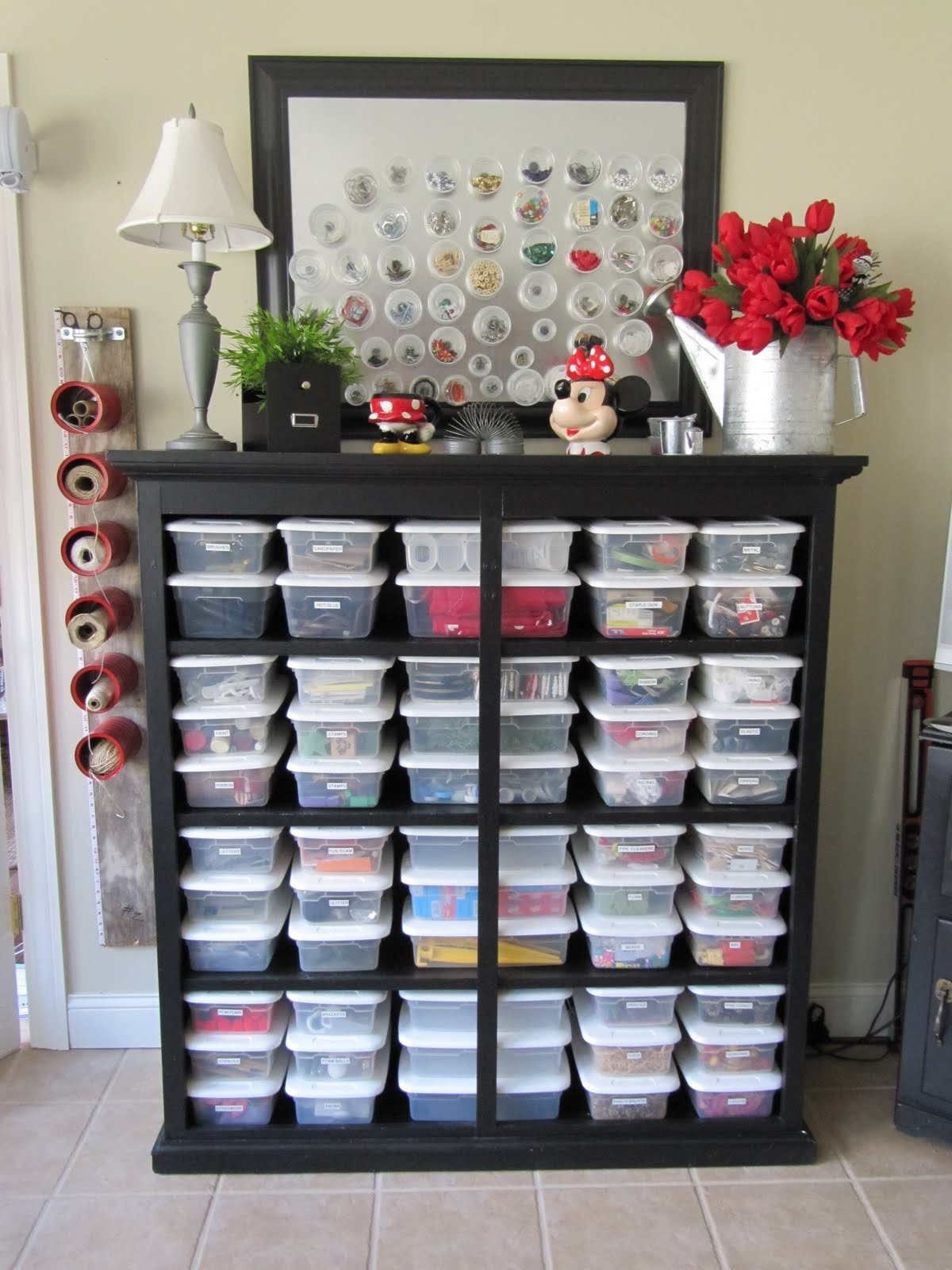 Bead Storage   Craft Room Ideas
