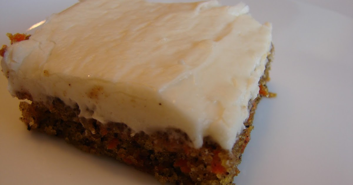 Bear in the Kitchen: Carrot Sheet Cake with Cream Cheese Frosting