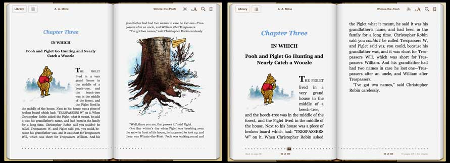 E is for book 2011 while this is fine for text only books or those with spot illustrations it doesnt work for a picture book as seen in the above screenshots from the fandeluxe Gallery