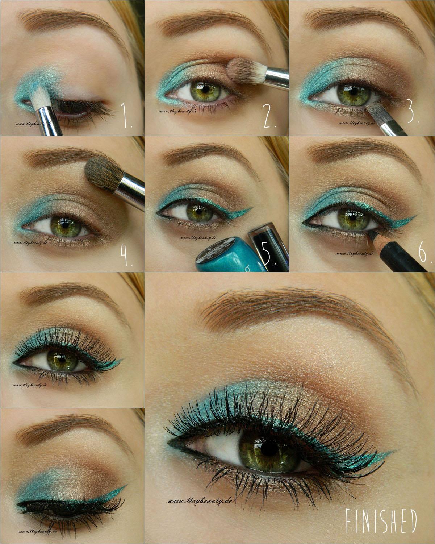 Летний макияж для маленьких глаз