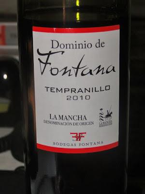 Wijn uit La Mancha; tempranillo-druif.