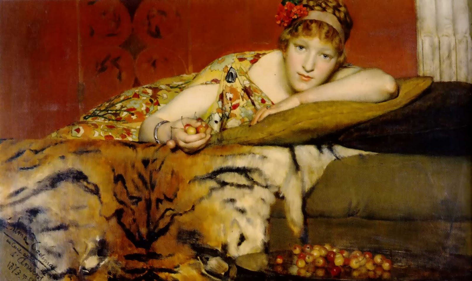 alma-tadema cherries painting