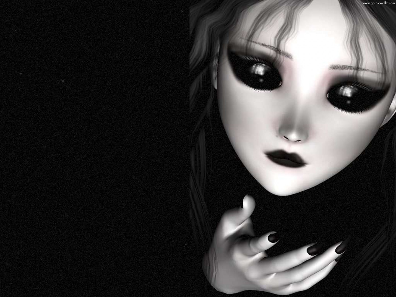 Dark Doll Girl | Dark Gothic Wallpaper Download