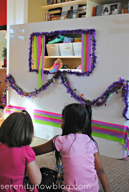 DIY Barbie Fashion Show Puppet Theater, from Serenity Now