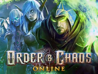 Screenshots of the Order and Chaos Online for Android tablet, phone.