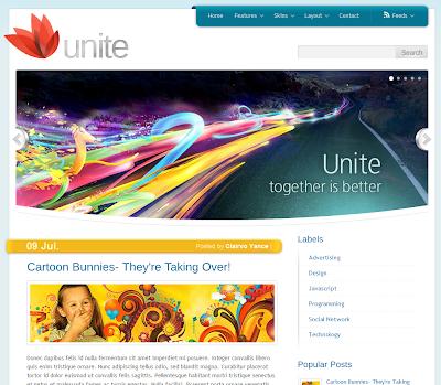 Unite Blogger Template