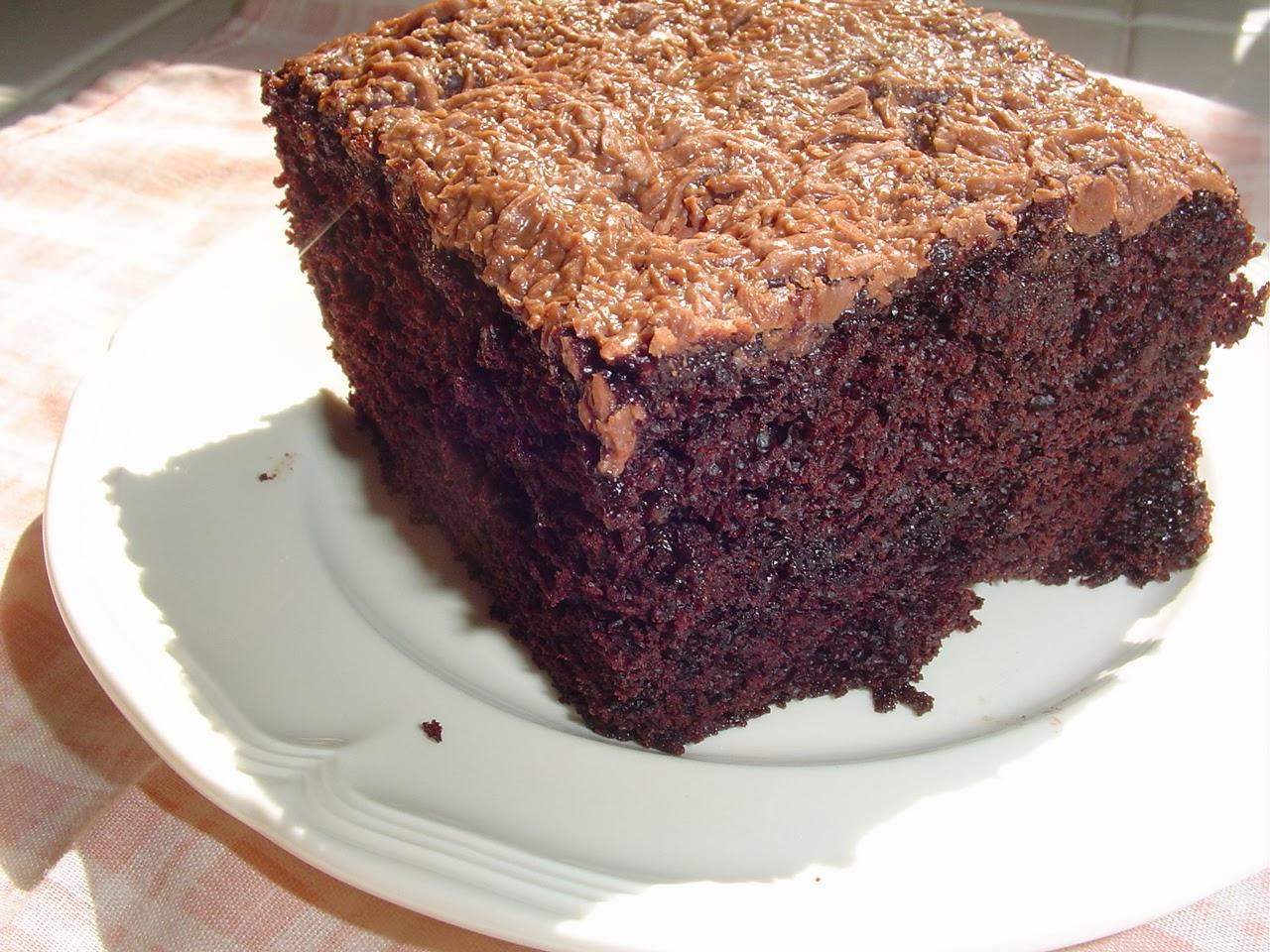 Poke Cake Using Powder Sugar Glaze