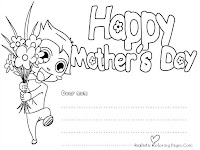 Happy Mother's Day Coloring Greeting Cards