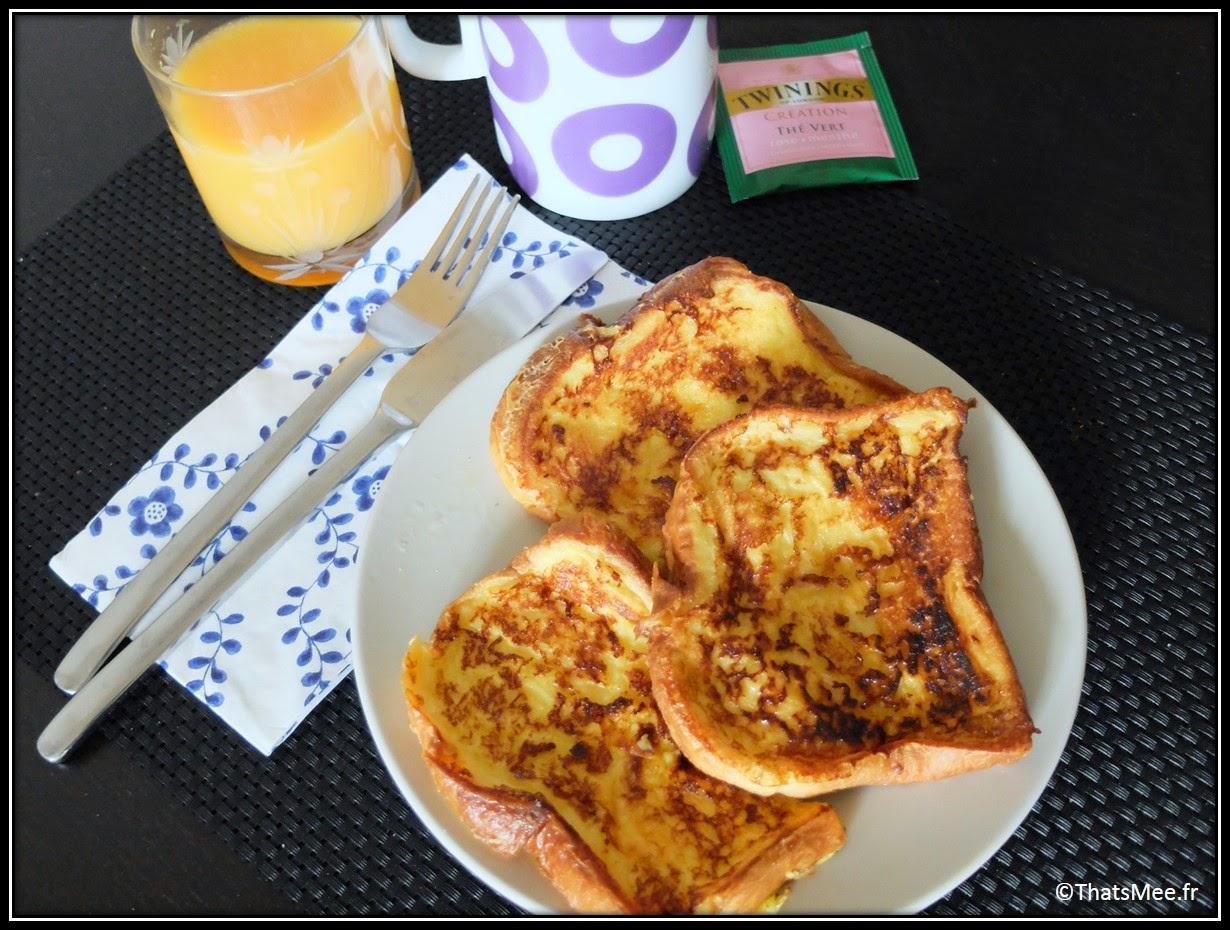 Recette brioche façon pain perdu , petit-déjeuner français brioche façon pain perdu oeufs lait sucre