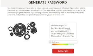Randomly Generate Your Passwords