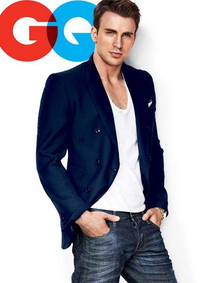Chris Evans covers GQ Magazine