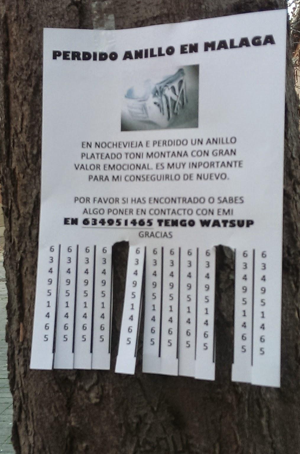 cartel anillo perdido