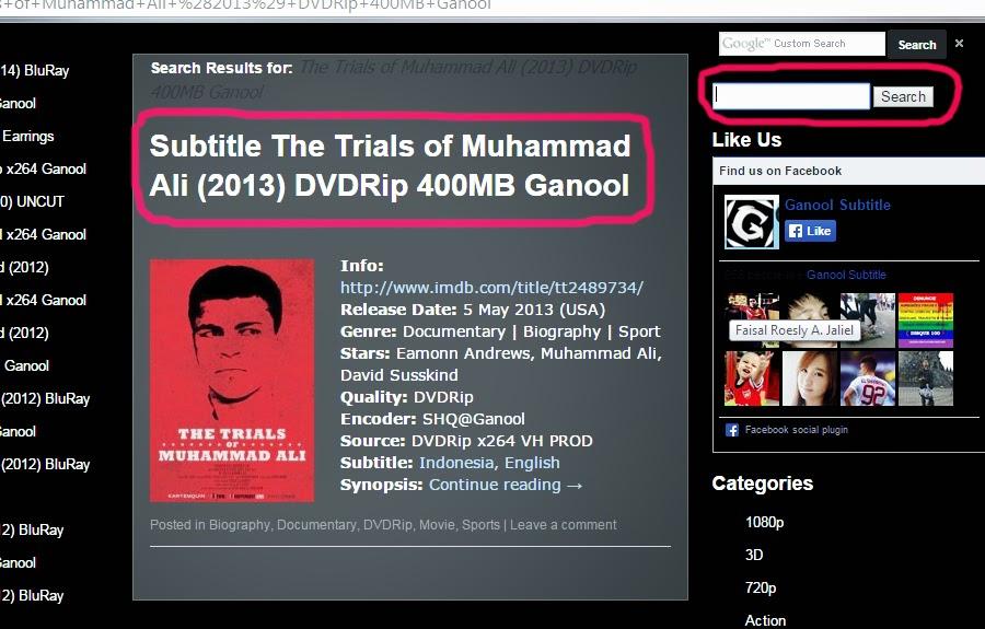Cara Download Subtitle Di Situs Ganool