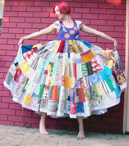 kirkyama Patchwork modelleri elbise Patchwork Kırkyama Modelleri