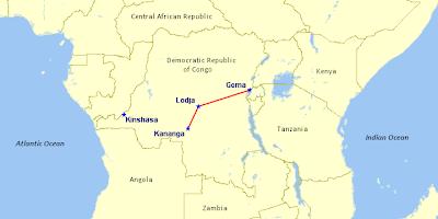 CAA Fokker 50 Route
