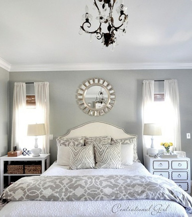 Home Design Idea: Bedroom Decorating Ideas Using Grey