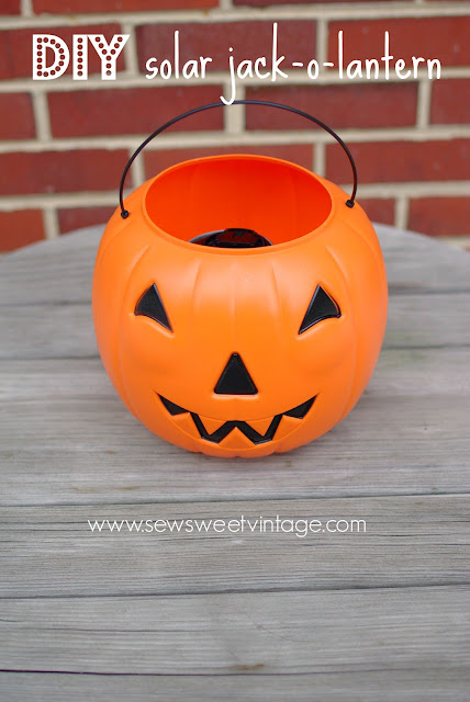 How to make a solar firefly jack-o-lantern for Halloween