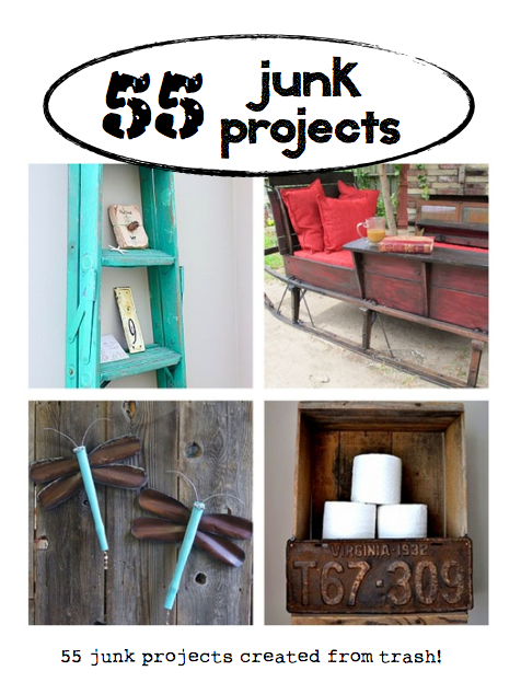 55 plus Junk Projects by various artists on HomeTalk featured at Funky Junk Interiors