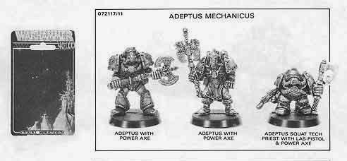tres adeptos del Mechanicus de la referencia 072117/11