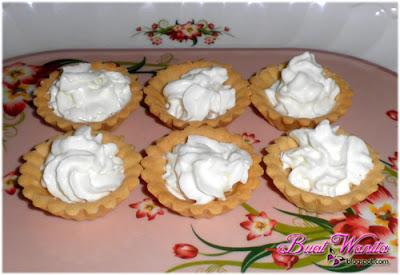 Cara Buat Tart Buah Cream Paling Senang. Resepi Tart Buah Whipping Cream Sedap