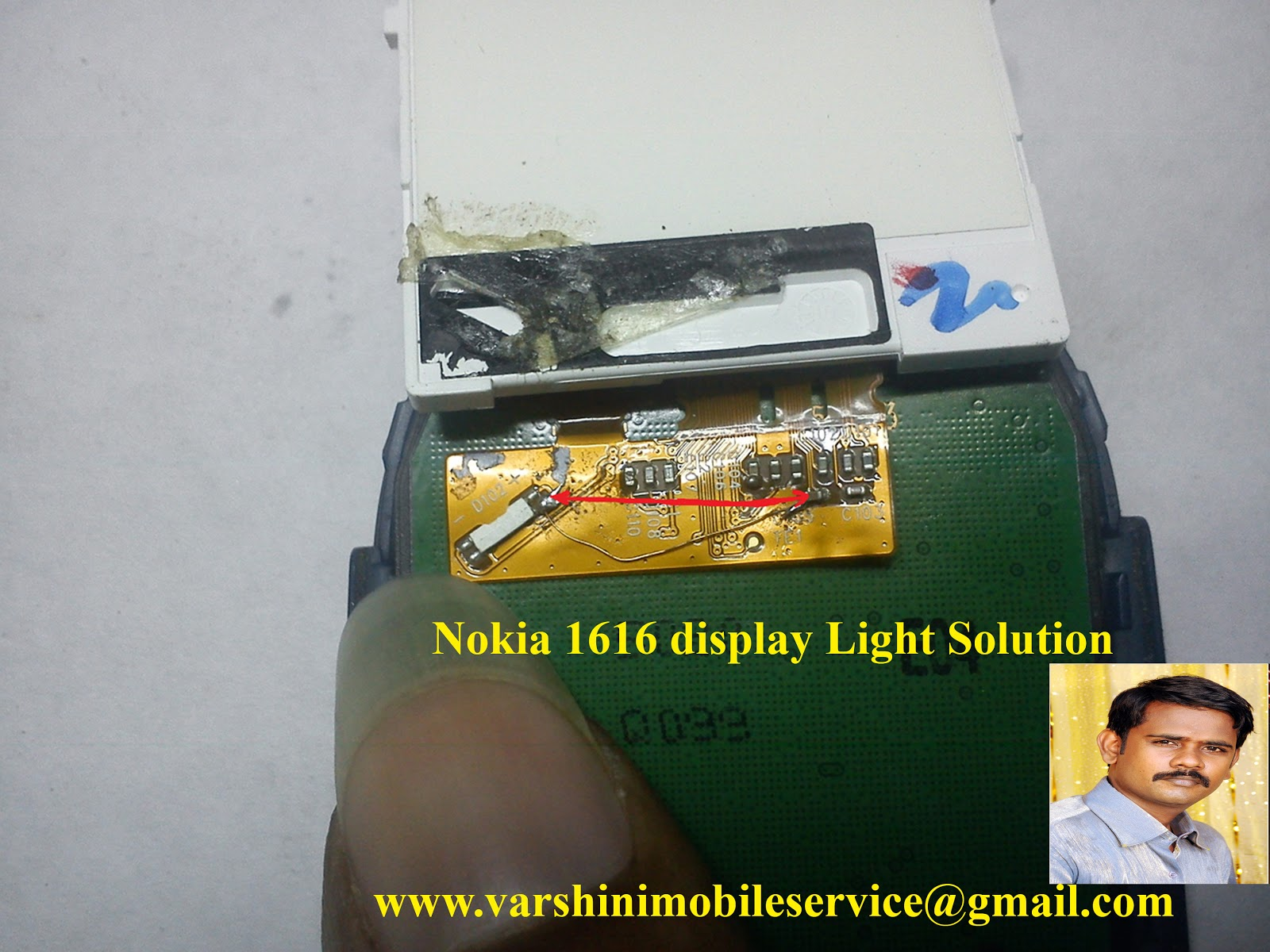 nokia 1616 light solution 100% tested