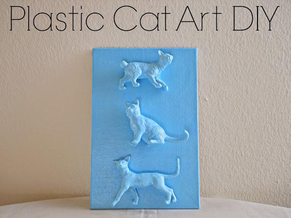 Plastic Cat Art DIY
