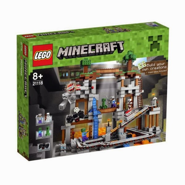 TOYS : JUGUETES - LEGO Minecraft  21118 La Mina | The Mine  Producto Oficial | A partir de 8 años