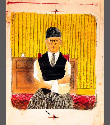 David Hocney - Self-portrait lithographie,1954.