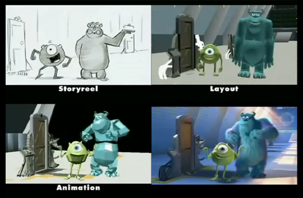 Living Lines Library Monsters Inc 2001 Storyboards