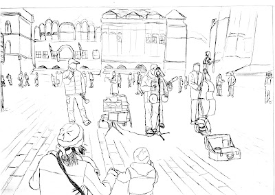 How To Draw A City Landscape Prague Drawing Lessons