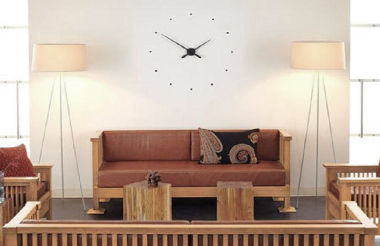 OJ Clock by Jose Maria Reina via Apartment Therapy