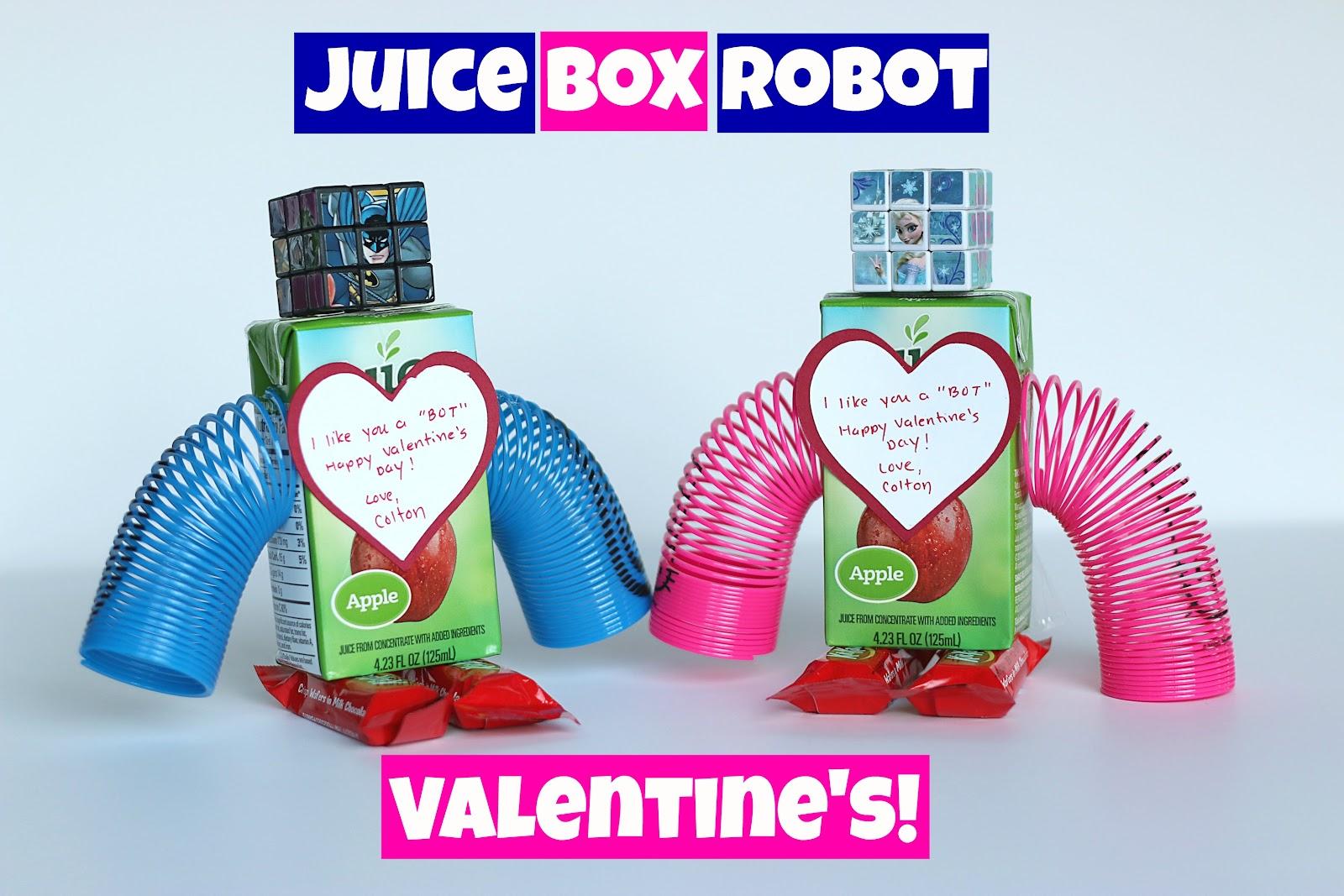 Juice Box Valentine\'s Day Robot