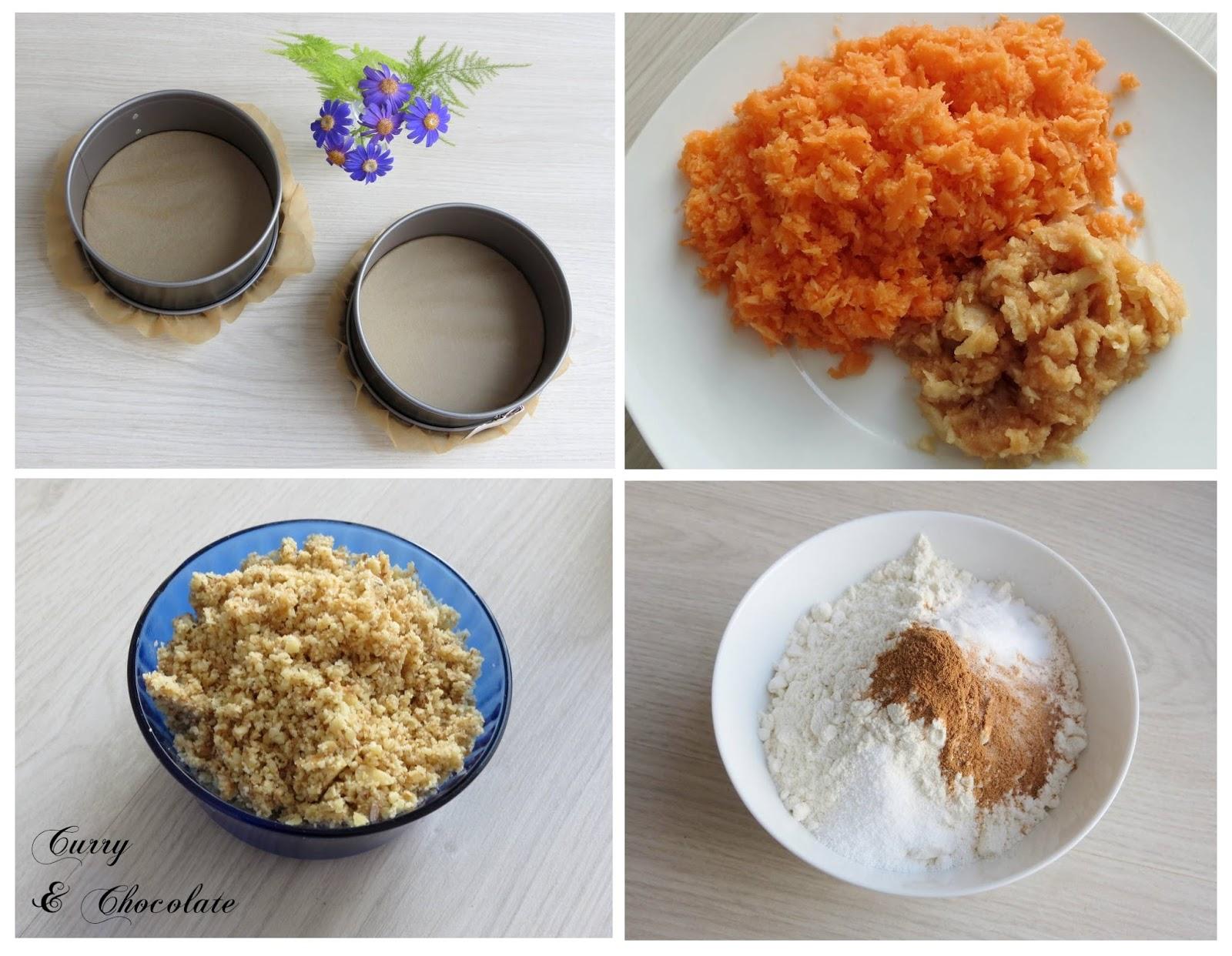 Preparando los ingredientes y los moldes