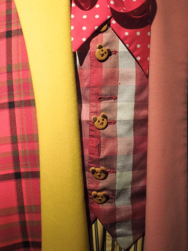 Sixth Doctor Who costume teddy bear buttons