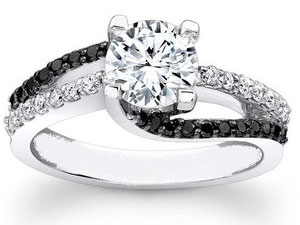 think about choosing black diamond engagement rings