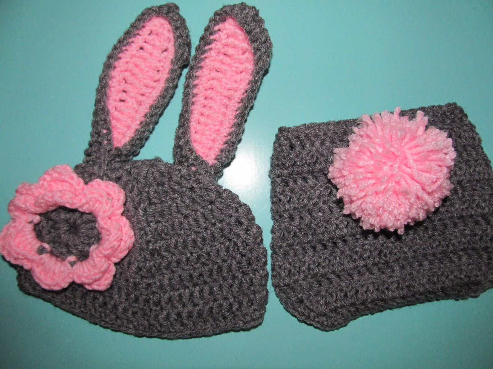 Simply Crochet and Other Crafts: Bunny Newborn Baby Prop
